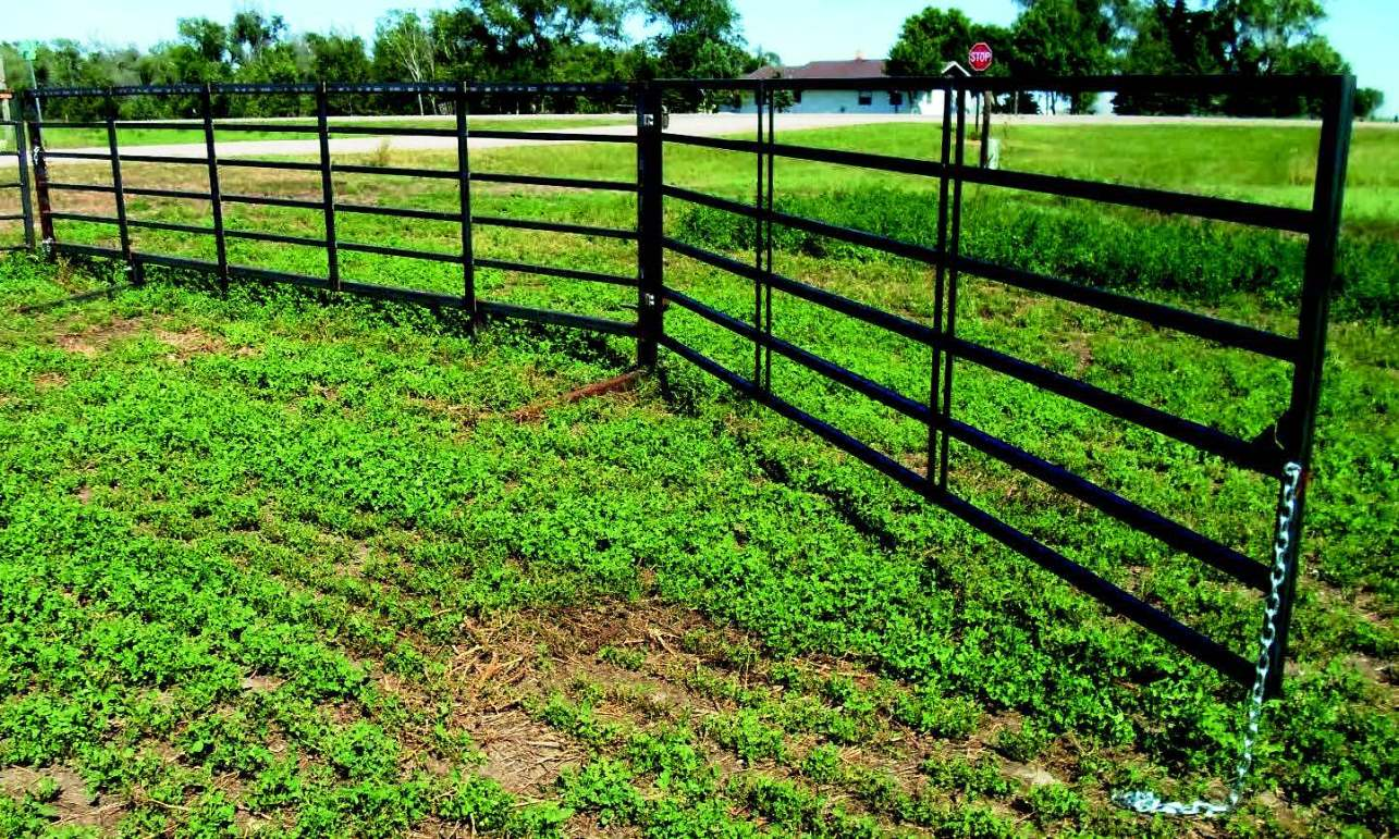 6-bar 20 ft heavy-duty freestanding livestock panel