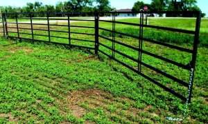 6-bar 20 ft heavy-duty freestanding livestock panel