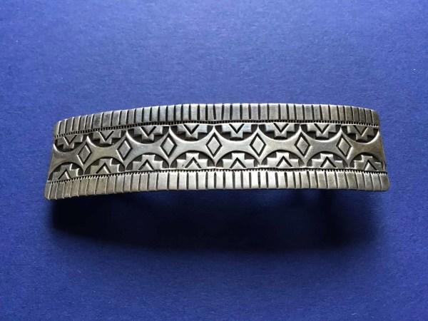 Alvin Todacheene (Navaho) - Haarspange aus Silber, Alvin Todacheene (Navaho) – Haarspange aus Silber