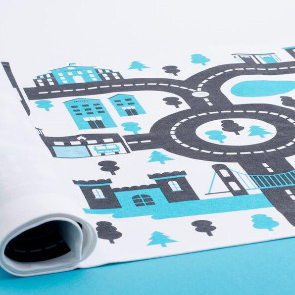 tapis de jeu bio pour petites voitures city