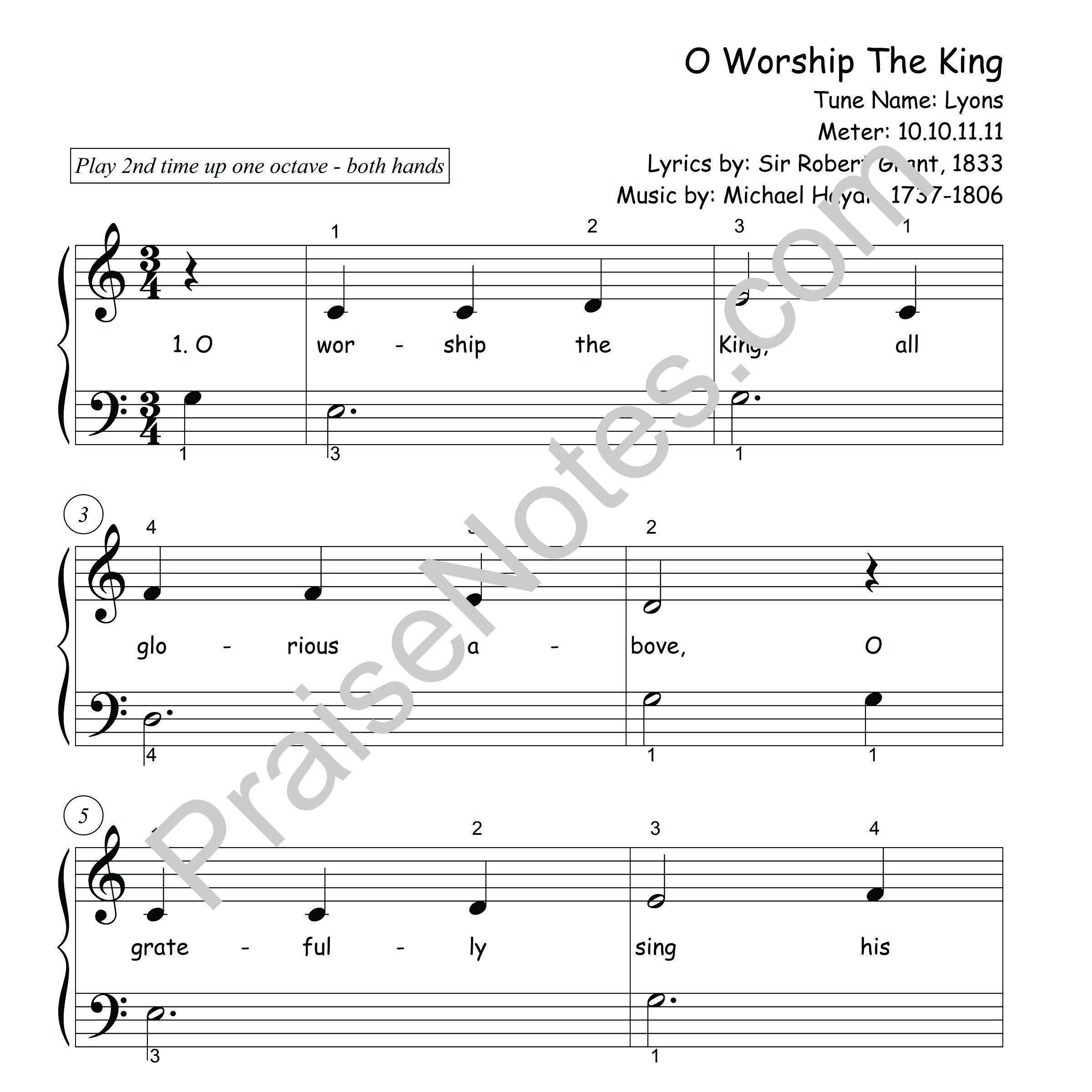 O Worship The King B1 3 Sample
