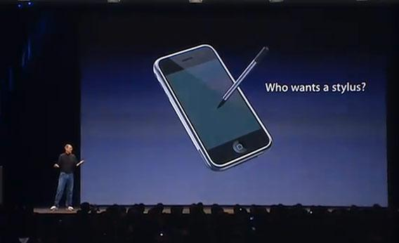 Steve Jobs Stylus opinion