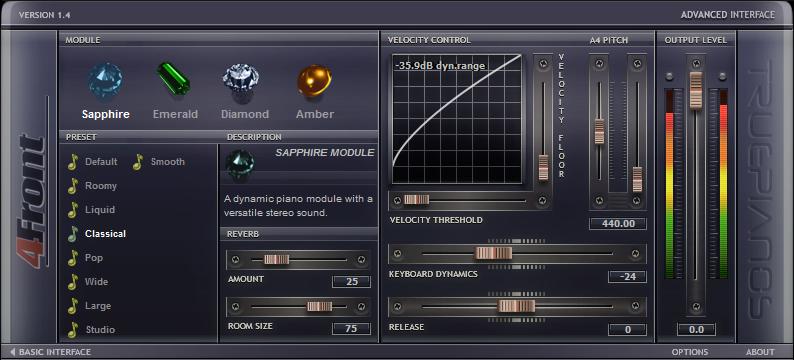 TruePianos Advanced Control Panel