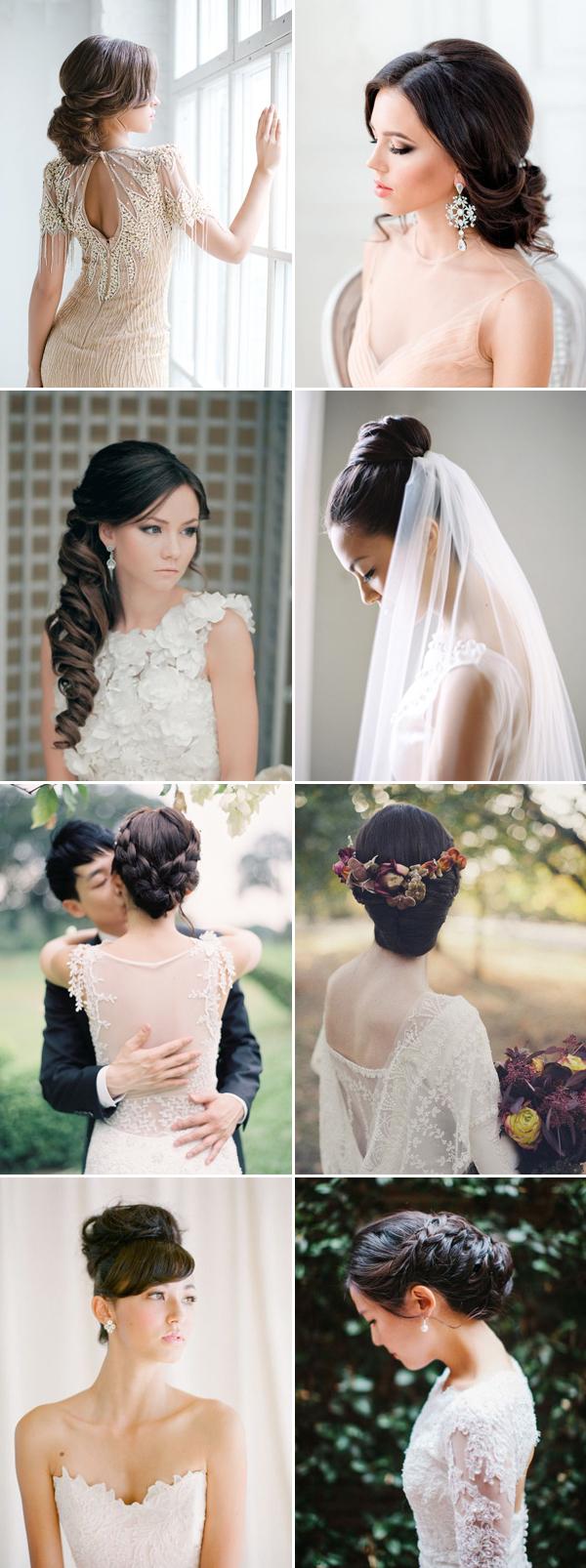 28 gorgeous hairstyles for brides with dark hair - praise