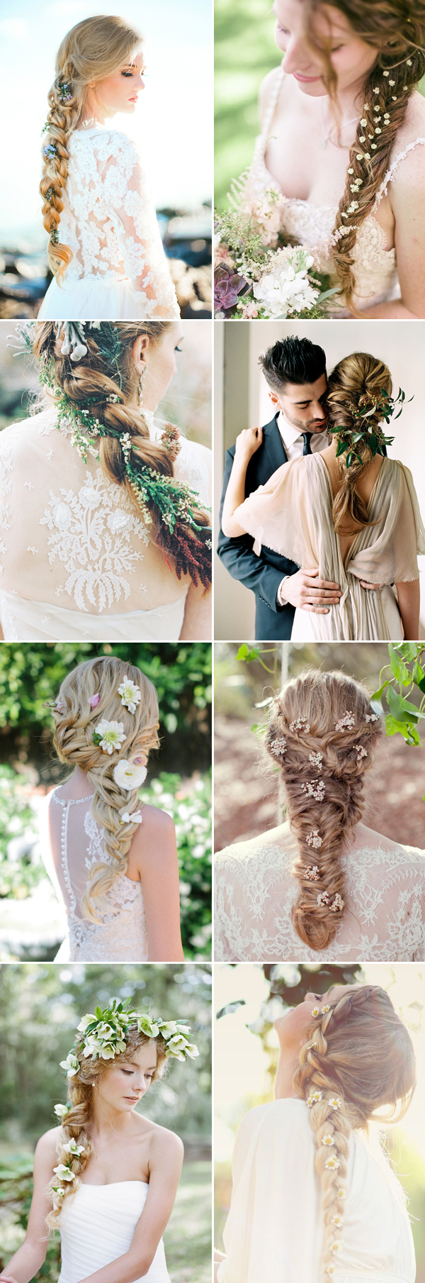 22 romantic ways to wear fresh flowers in your bridal hair