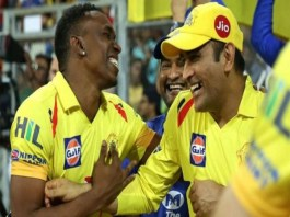 dwayne bravo shares glimpse a new song on ms dhoni