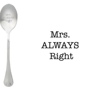 Message spoon Mrs right