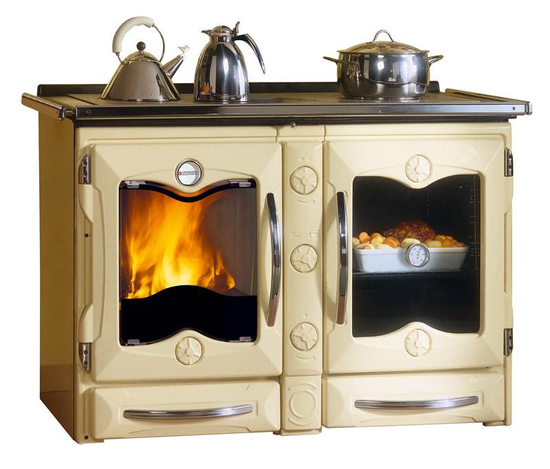 Cucina A Legna Con Forno Nordica Extraflame America Crema