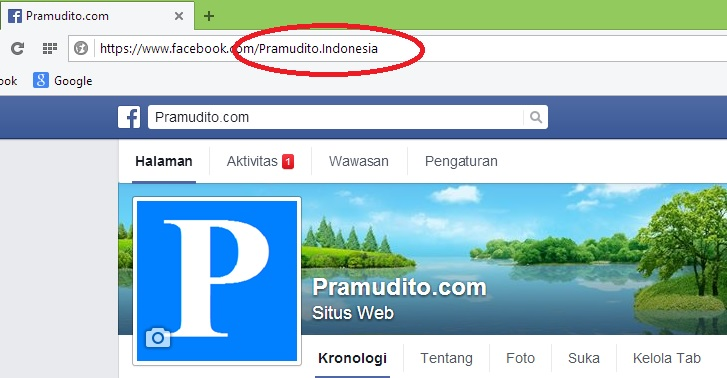 URL Facebook