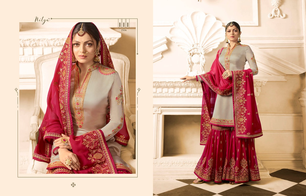 f2d0fe448e Lt nitya vol 125 2501-2508 series Wholesale Sharara Collection party wear  suits. DOWNLOAD ZIP