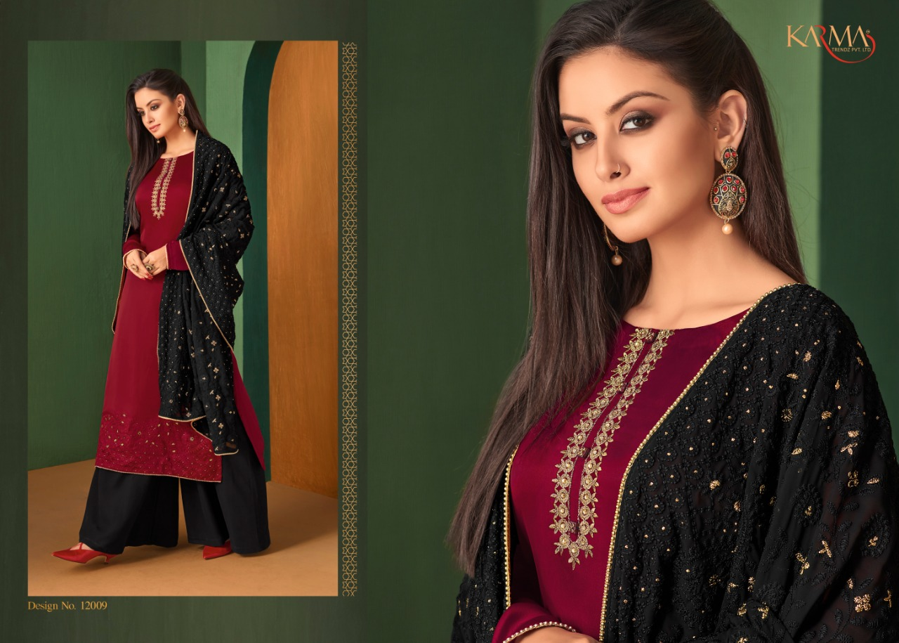 617bf6dc89 Karma Trendz 12006-12011 series Wholesale georgette Heavy Embroidered suits  Collection in Wholesale rate. DOWNLOAD ZIP