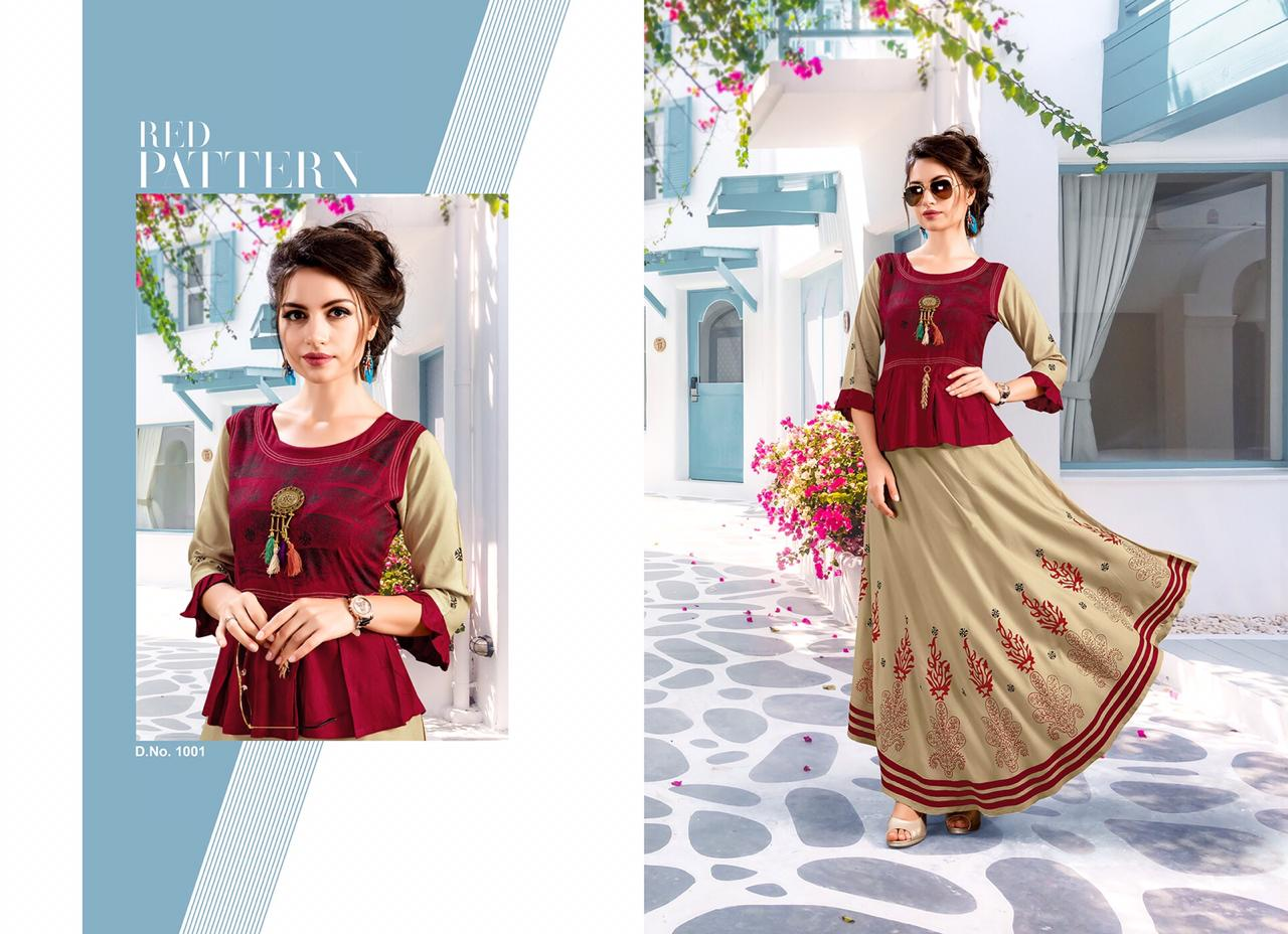 70cabd463c Shubh nx launch anarkali vol 1 rayon anarkali Designer Kurtis in wholesale  price. DOWNLOAD ZIP
