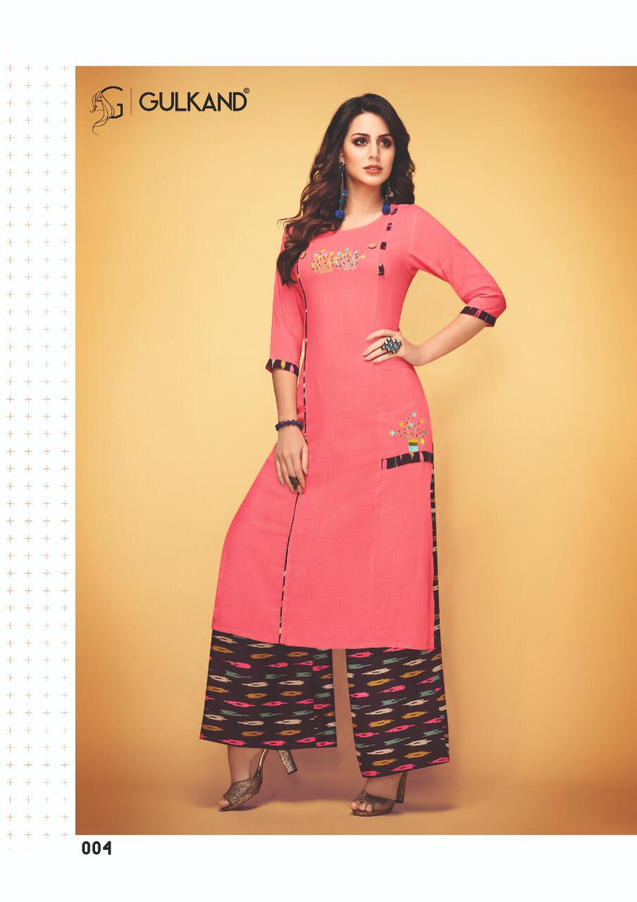 5831abd3dd Gulkand designer launch queen catalog wholesale rayon Kurtis with Plazo set  buy online wholesale rate
