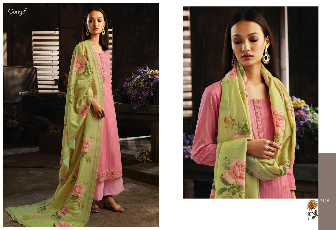 47b2050fa4 Ganga invite the light superior cotton print with Embroidered punjabi Salwar  suits collection. DOWNLOAD ZIP