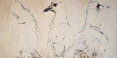 Three Gulls (detail) by Faith Revell