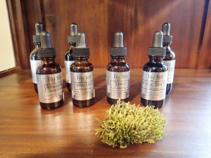 A series of tinctures made by Yarrow as a part of his Fog Yeti line