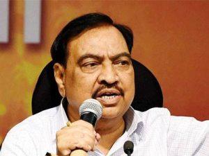 महाराष्ट्र के मंत्री खड़से ने दिया इस्तीफा