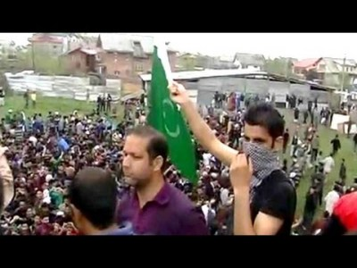 pakistani flag in kashmir