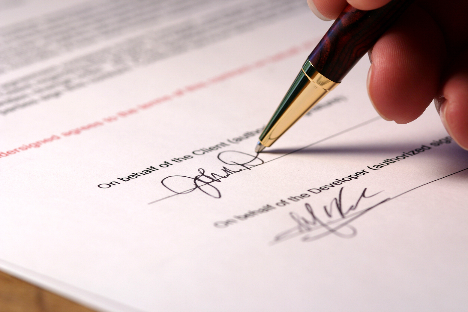 Image result for picture of executed contract