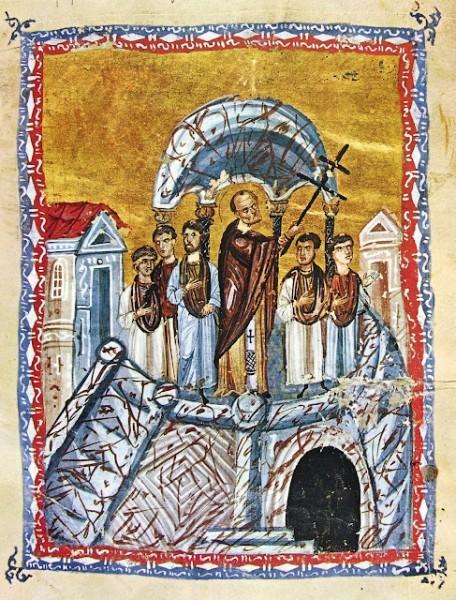 Воздвижение Креста Господня. 12 век