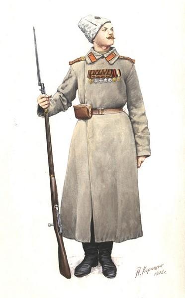 Георгиевский кавалер. Рисунок А. Каращука.