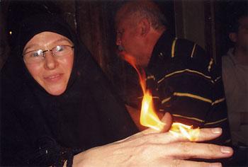 Сестра Фотиния из монастыря святой равноапостольной Марии  Магдалины в Гефсимании. 2007 год