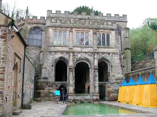 The healing pool at Holywell, Wales. Photo by Jeffrey L. Thomas, 2006.