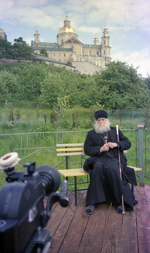 Bishop Basil (Rodzyanko) in Pochaev. Photo by Archimandrite Tikhon