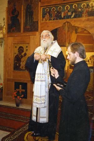 Bishop Basil (Rodzyanko) in the Sretensky monastery