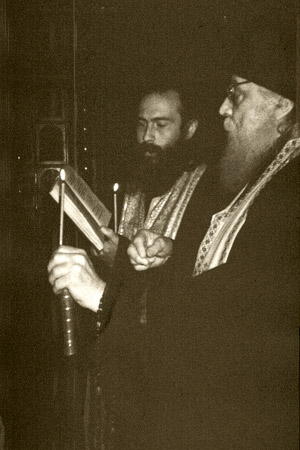 Bishop Basil (Rodzyanko) and priest Andrei Voronin