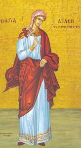 Святая мученица Агафия