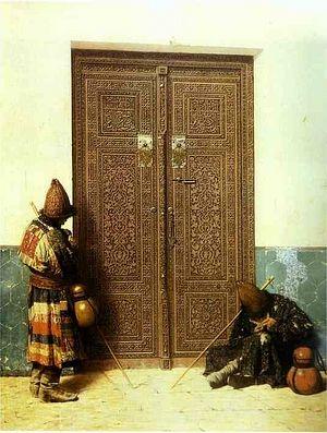 У дверей мечети (Дервиши)