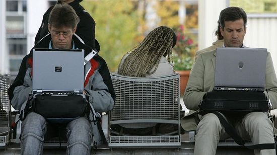 Source of distraction: Modern technology stops people paying attention to those around them. Photo: Michaela Rehle