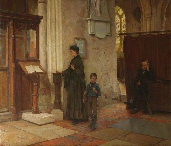 The Widows Mite by William Teulon Blandford Fletcher