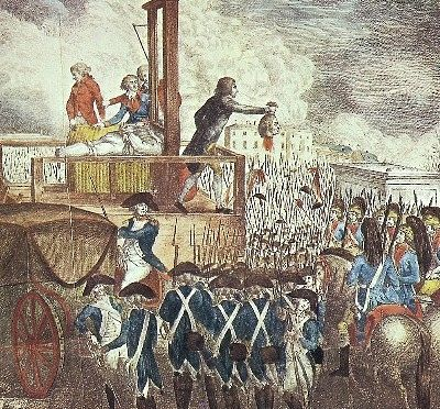 "The guillotine, the most infamous killing machine in history, symbolizes the capriciousness, terrorism, and excesses of the Jacobin period of the French Revolution, when thousands died under its blade during Robespierre's ""Reign of Terror"" against all suspected opponents of the Revolution."