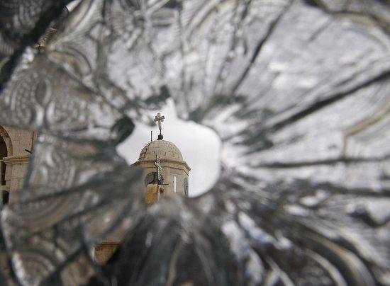 The broken window of Saidnaya Monstery. 2012.