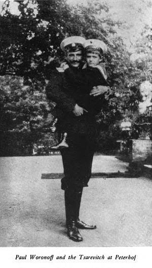Pavel Voronov with Holy Tsesarevich Alexei.