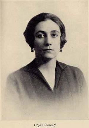Lady in waiting to the empress, Olga Constantinovna Voronova.