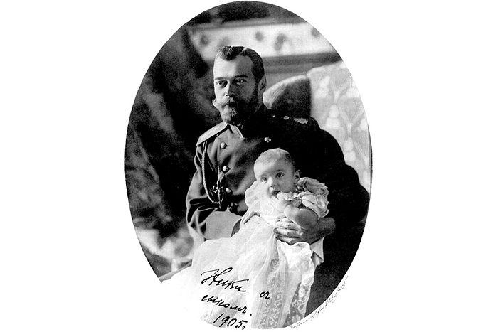 Николай II с сыном