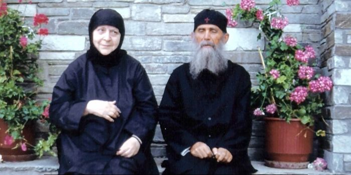 Elder Ephraim of Arizona and Abbess Macrina.