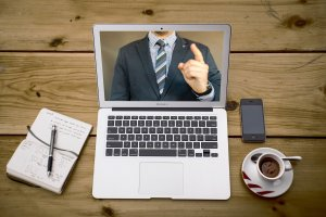 Video Conference Desk 300x200 - Zoom Fatigue: why video calls can be exhausting