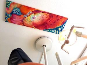 Zahnarztpraxis Wittek in Augsburg - Behandlungszimmer, Deckenbild