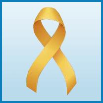 Childhood cancer ribbon color