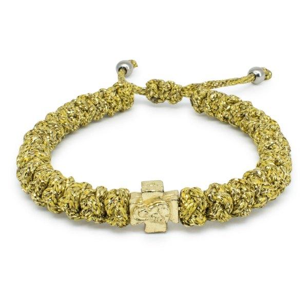 Adjustable Gold Prayer Bracelet-0