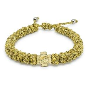Begehrenswertes verstellbares Goldenes orthodox Knoten Armband