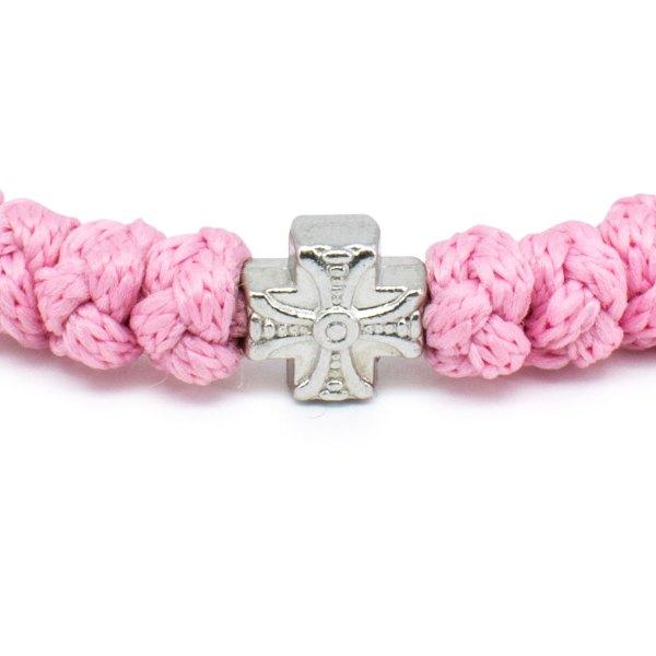 Romantisches Rose orthodox Knoten Armband
