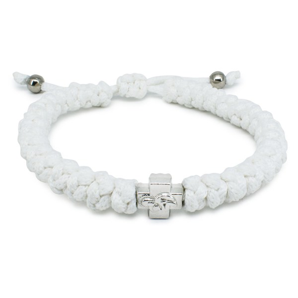 Adjustable White Prayer Bracelet-0