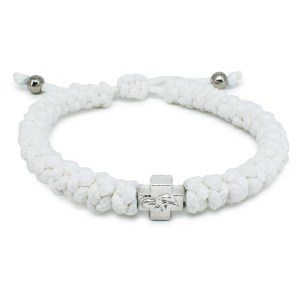 Adjustable White Prayer Bracelet-0