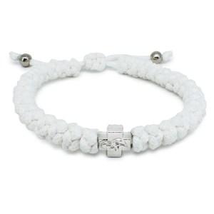 Verstellbares Weiße orthodox knoten Armband