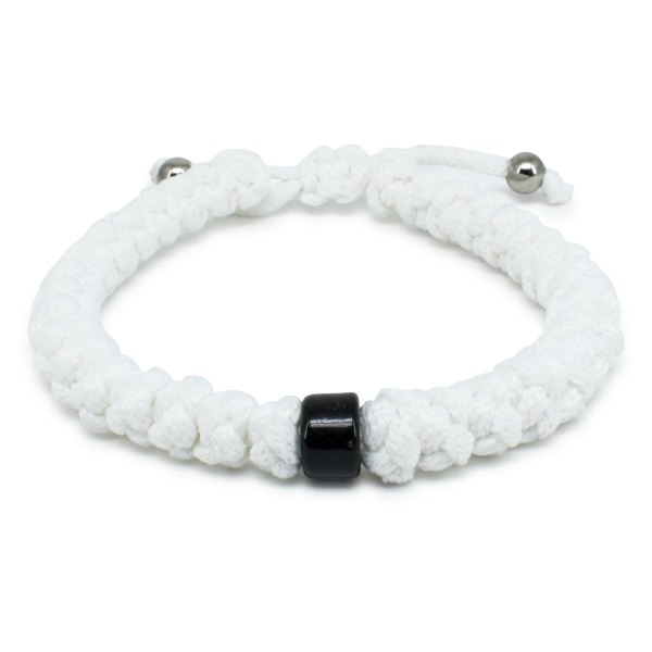 Adjustable White Prayer Bracelet With Bead-0